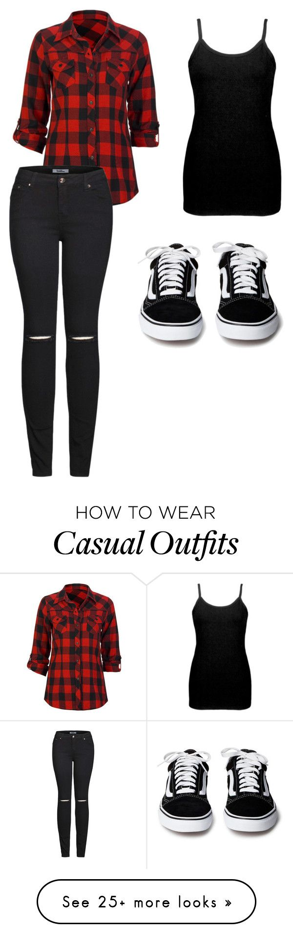 """""""Casual Plaid"""" by emoemily21 on Polyvore featuring BKE core, Full Tilt and 2LUV"""