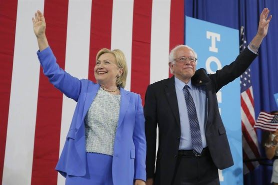 """Bernie Sanders officially endorsed Hillary Clinton on Tuesday, capping off a contentious presidential primary and solidifying the former secretary of state's hold on the Democratic Party.   """"I have come here to make it as clear as possible as to why I am endorsing Hillary Clinton,"""" Sanders said while standing next to Clinton at an event in Portsmouth, New Hampshire.   """"This campaign is not really about Hillary Clinton or Donald Trump or Bernie Sanders. This campaign is about the needs of…"""