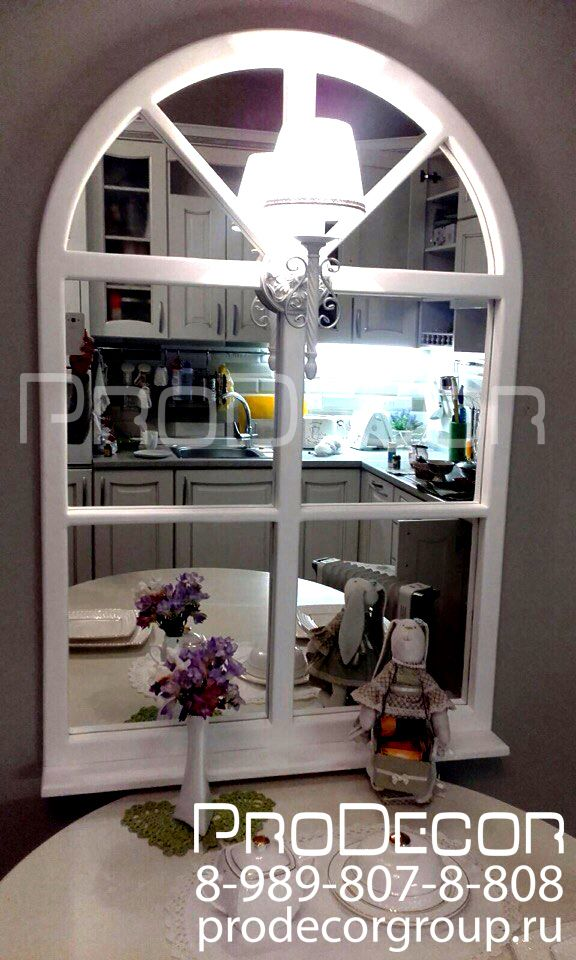 Фальш-окно с использованием зеркал. Рама: Дерево (лиственница) Является прекрасным предметом интерьера и зрительно увеличивает пространство комнаты. Заказать декоративное окно можно по телефону 8-989-807-8-808 #ProDecor #Витраж #окно #фальшьокно #декоративноеокно #псевдоокно #ложноеокно #световойкороб #искусственноеокно #lightbox #зеркало