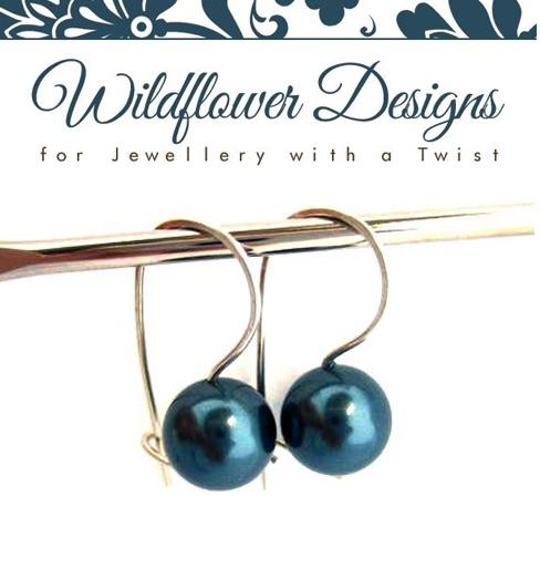 Tahitian Green Swarovski Pearl Earrings    http://www.wildflowerdesigns.co.nz/