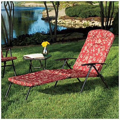 wilson fisher folding padded chaise lounge chair at big