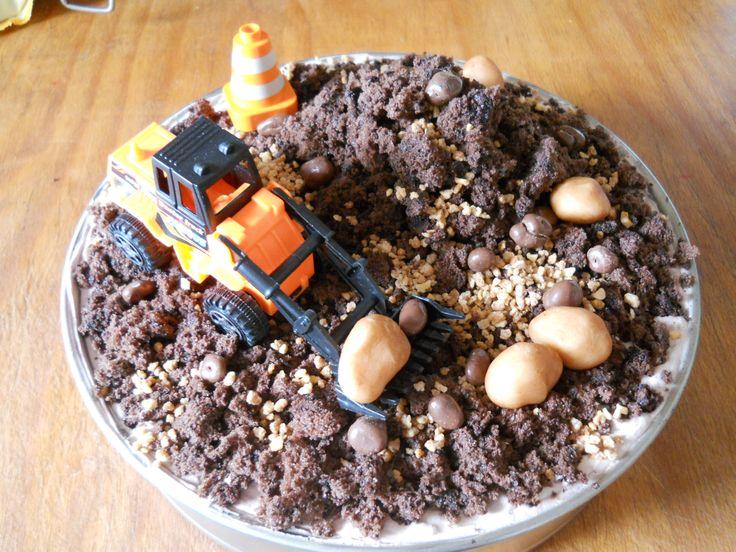 Földmunkák torta - Olivér 2. szülinapjára
