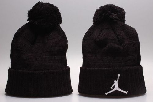 823dcf710586 Air Jordan Winter Outdoor Sports Warm Knit Beanie Hat Pom Pom