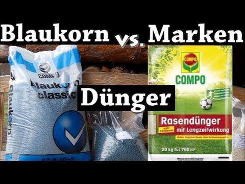 Rasen düngenmit Rasen Dünger Vergleich-Teuer gegen Günstig // Marken Dünger gegen Blaukorn Dünger - YouTube