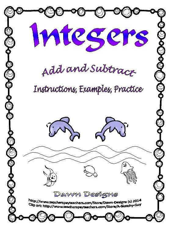 Integers Clipart integer worksheet: add and subtract integers clip art ...