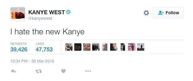 """I got """"I hate the new Kanye""""! Which Kanye West Tweet Are You Based On Your Zodiac Sign?"""