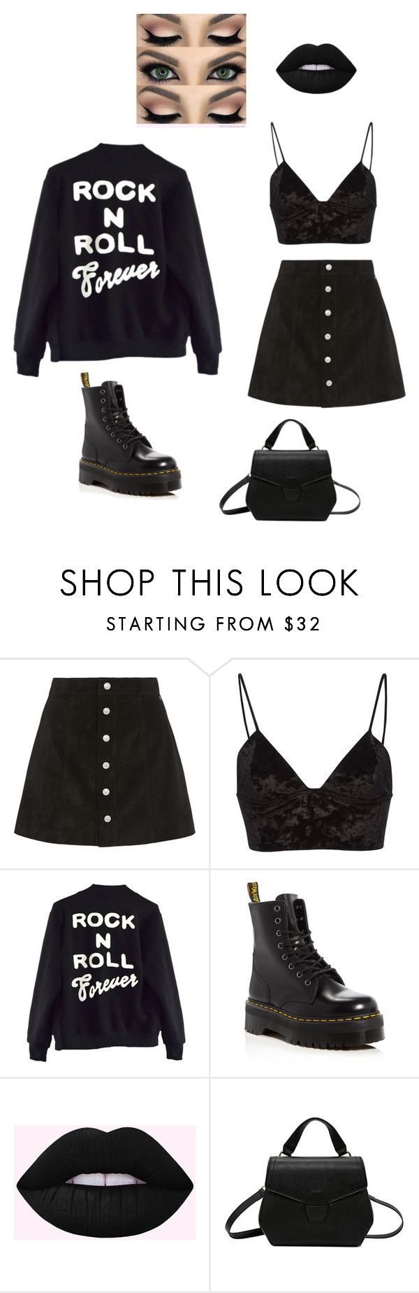 """""""#12"""" by caitlinetting on Polyvore featuring AG Adriano Goldschmied, Fleur du Mal, High Heels Suicide and Dr. Martens"""