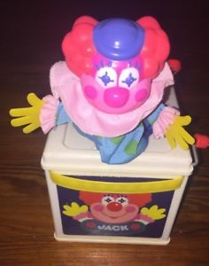 Vintage 1987 Mattel Jack in the Music Box Clown Pop Goes The Weasel  Classic TOY  | eBay