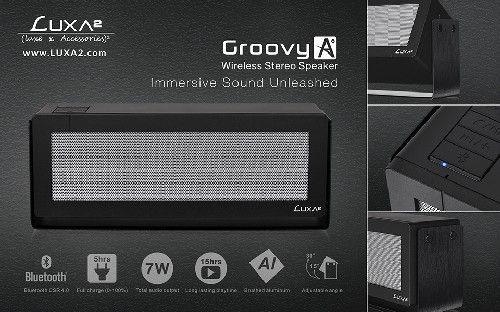 Introducing the GroovyA Wireless Stereo Speaker with Adjustable Design by LUXA2