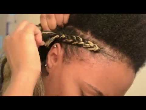 [*62*] NATURAL HAIR | Quick & Easy Cornrows Protective Hairstyle - YouTube