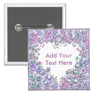 Romantic Heart Soft Pink Pastel Colors Add Text Button