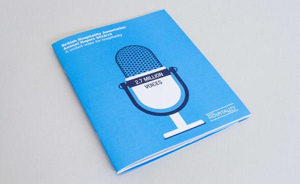 BHA annual report by Jon Martin, via Behance