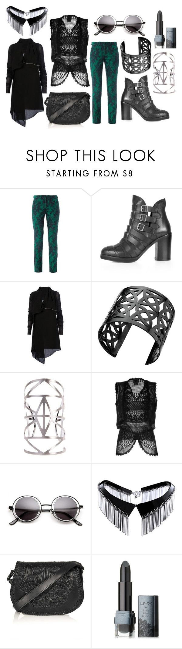 """Tomorrow Will Never Come"" by pennydreadful27 ❤ liked on Polyvore featuring Erdem, Topshop, Rick Owens, Lynn Ban, Akira, Anna Sui, Zelia Horsley and NYX"
