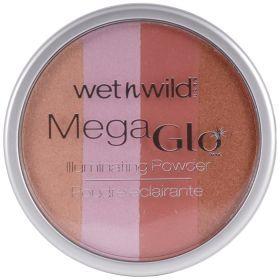 Wet N Wild Mega Glo Powder (Πούδρα Λάμψης) No 345 Πούδρα λάμψης η οποία δίνει έναν απαλό ιριδισμό σε κάθε απόχρωση δέρματος. Αναμίξτε με το πινέλο σας τις τέσσερις διαφορετικές αποχρώσεις ή χρησιμοποιήστε μόνο την απόχρωση που σας αρέσει για να φωτίσετε το πρόσωπο, τον λαιμό, το ντεκολτέ ή και το σώμα. Τιμή €5.99
