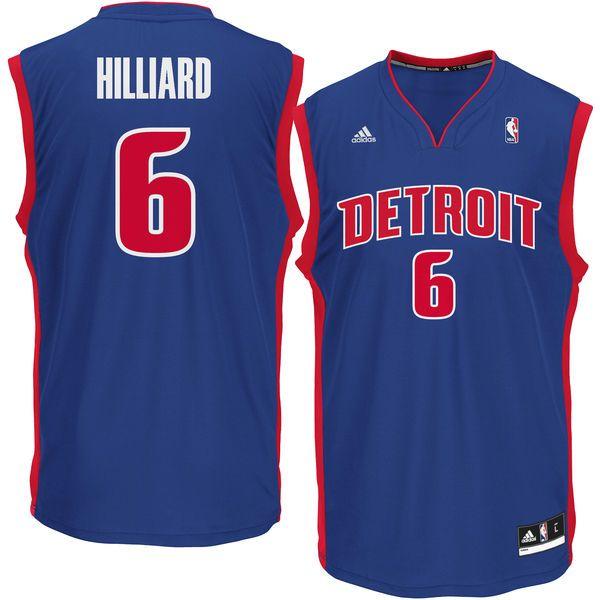 Darrun Hilliard Detroit Pistons adidas Replica Jersey - Royal - $69.99