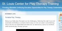 The St. Louis Center for Play Therapy Training blog http://www.stlouiscenterforplaytherapytraining.blogspot.com/ has been selected as one of the Top 100 Counseling Resources on the Web by Masters in Counseling Information Guide. We are proud to be listed in the School and Children's Counseling Category.