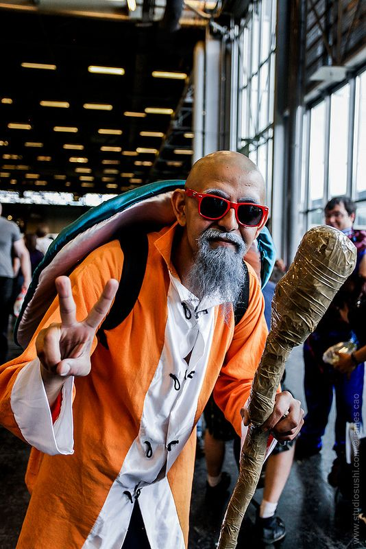 Master Roshi (Dragon Ball) Japan Expo 2012 #Cosplay