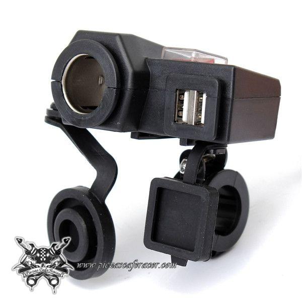 23,01€ - ENVÍO GRATIS - Cargador de Mechero con Doble USB Para Manillar Moto 22mm-25mm