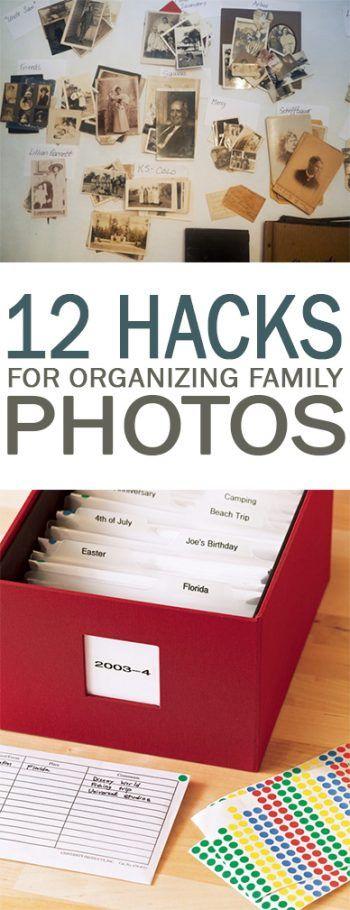 12 Hacks for Organizing Family Photos - 101 Days of Organization