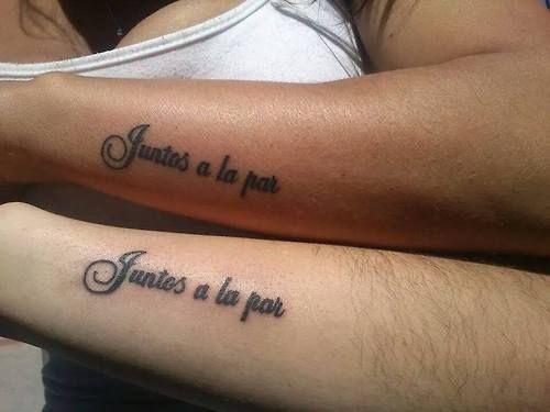 Peque os tatuajes que dicen juntos a la par tatuajes for Tattoo in spanish
