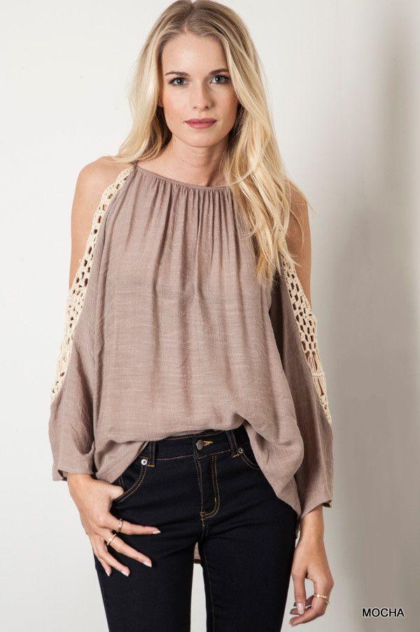 Crochet Cold Shoulder Top - Pre-Order | Knitted Belle Boutique