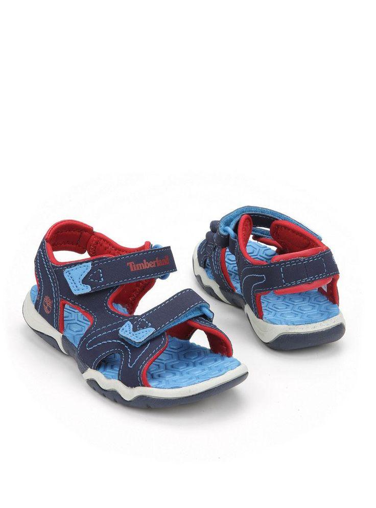 Timberland sandaal  Description: Stoere blauwe Timberland sandalen met rode details. De schoenen zijn gemaakt van textiel en voorzien van een dubbele klittenband sluiting.  Price: 31.49  Meer informatie