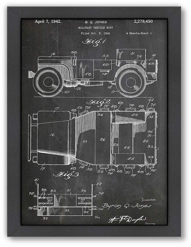 Americanflat ''Willy's Jeep'' Framed Wall Art #ADD