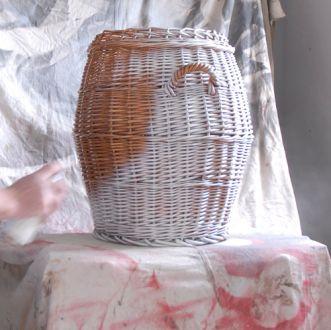 How-to spray paint a wicker basket » Rustoleum Spray Paint » www.rustoleumspraypaint.com