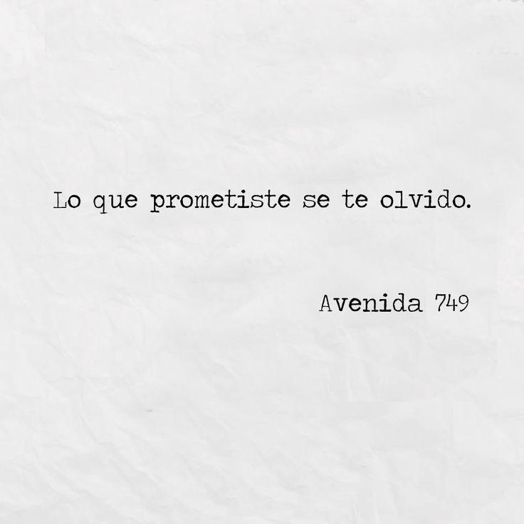 Lo que prometiste se te olvidó*