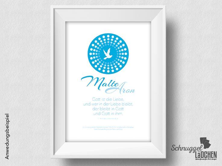 Kommunion+Konfirmation+personalisiert+–+Taube+blau+von+Schnuggellaedchen+auf+DaWanda.com