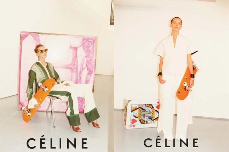 Celine ads featuring Daria Werbowy and shot by Jeurgen Teller
