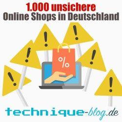 unsichere online shops