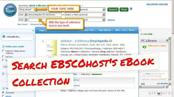 Select EBSCOhost Web > eBook Collection. Requires student or staff ID# and last name for access off campus.