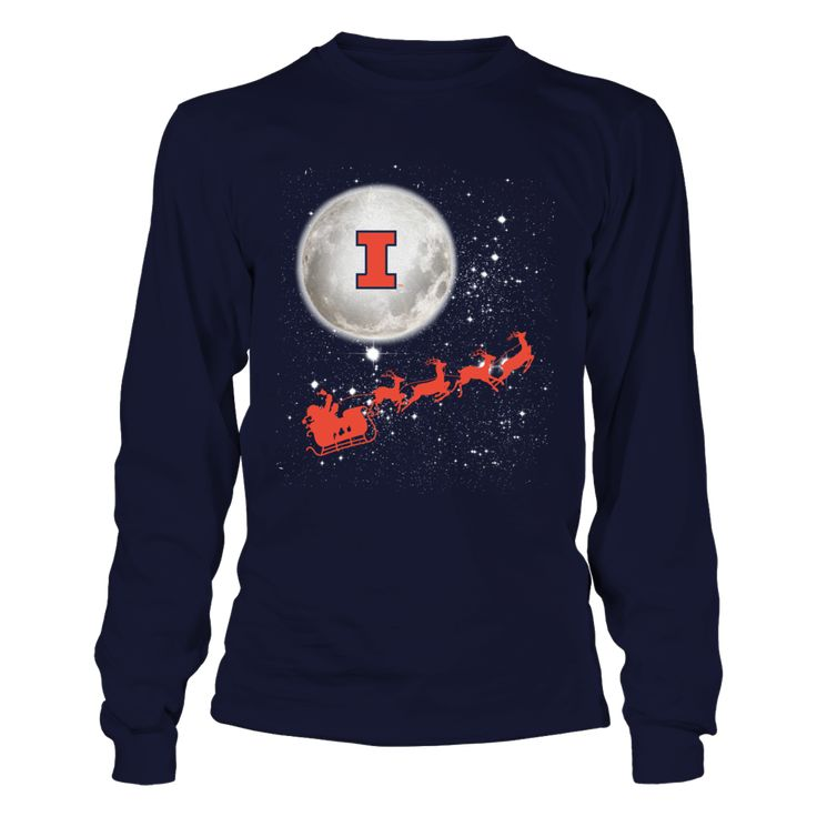 Illinois Fighting Illini - Football Sleigh Front picture Illinois Fighting Illini fan. This t-shirt is a wonderful gift for you, your father, brother, sister, mother, grandfather, grandmother, aunt, uncle, fire boy, niece for parties, birthday, Father's Day, Thanksgiving, Christmas, New Year