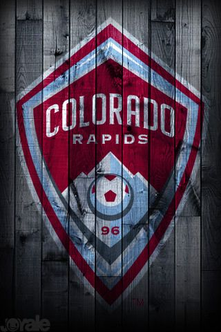 "Colorado Rapids football club badge -- ""Glory, Glory, Colo-rado!!"""