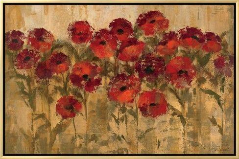 Sunshine Florals Impressão em tela emoldurada