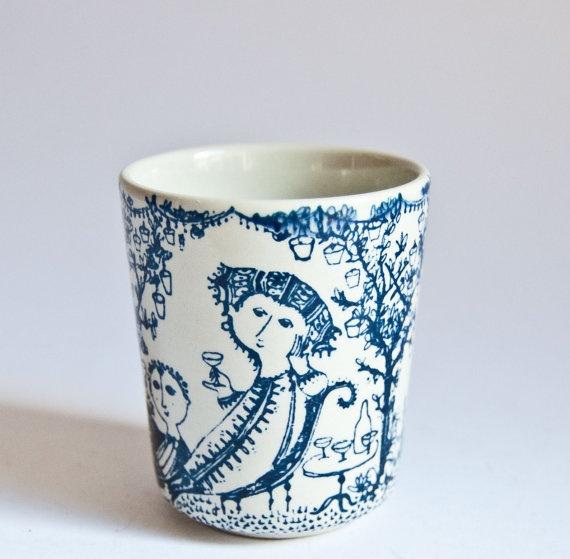 Bjorn Wiinblad // Garden Party Beaker Vase // Nymolle Denmark