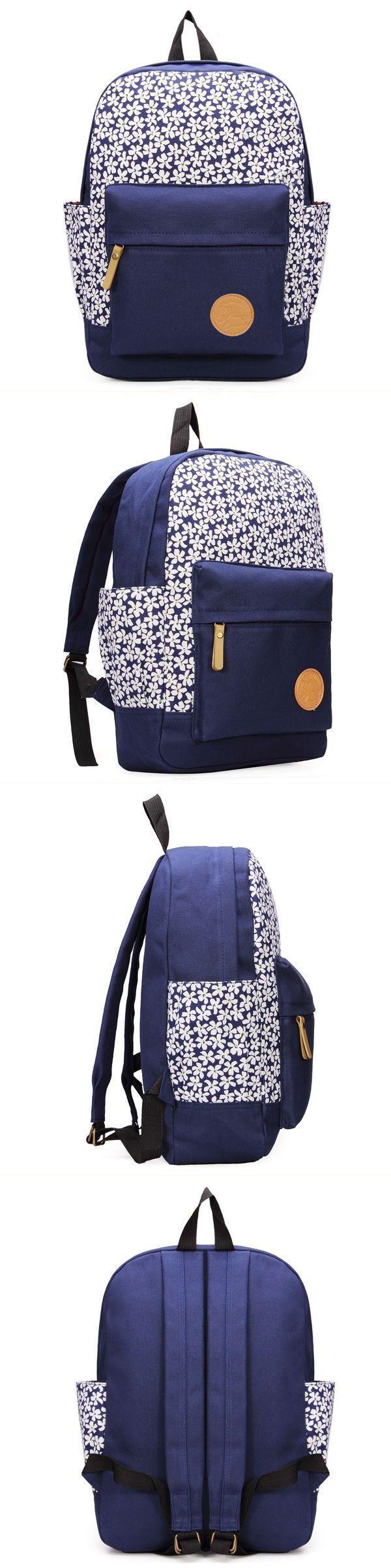 8217 S Canvas Travel Satchel School Rucksack Shoulder Bag Backpack H Brand