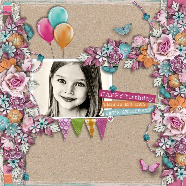 Kit My Birthday by Valentina Creations. Template Mix IT Up #6 by Heartstrings Scrap Art. Photo per kind favour of Anastasia Serdyukova Photography.