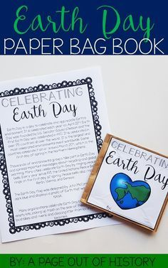This Earth Day paper bag book activity is a fun and engaging social studies resource for the month of April! It covers the history of Earth Day and popular traditions celebrated during Earth Day!  Students will read the included informational passage about Earth Day. Then, they will use two brown paper bags to assemble a book. Finally, they will fill in information regarding what they have read and glue those pieces into their books!