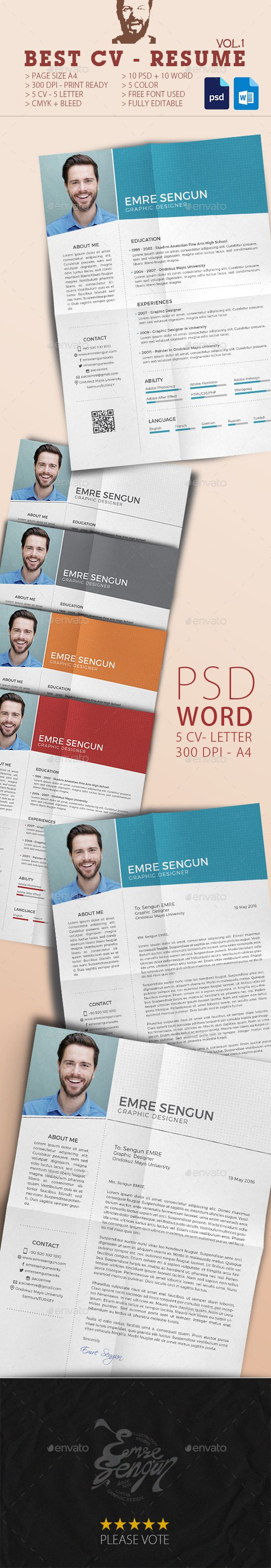 Cv Templates Design%0A Best CV Resume Design  Resume Template PSD  Download here  http