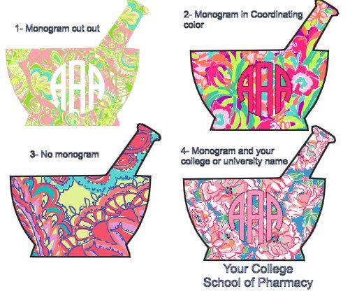 Mortar and Pestle Pharmacy School Tech Monogram by BelleAndIvie