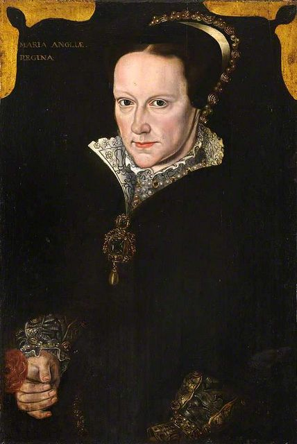 Mary I of England (1515-1558), daughter of Henry VIII, wearing the famous La Peregrina pearl which 400 years later was purchased by Richard Burton for Elizabeth Taylor