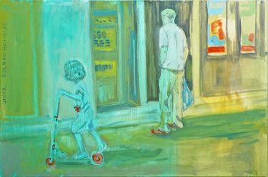 "Saatchi Online Artist Janusz Gałuszka; Painting, ""red accent, Basia w Chatham"" #art"