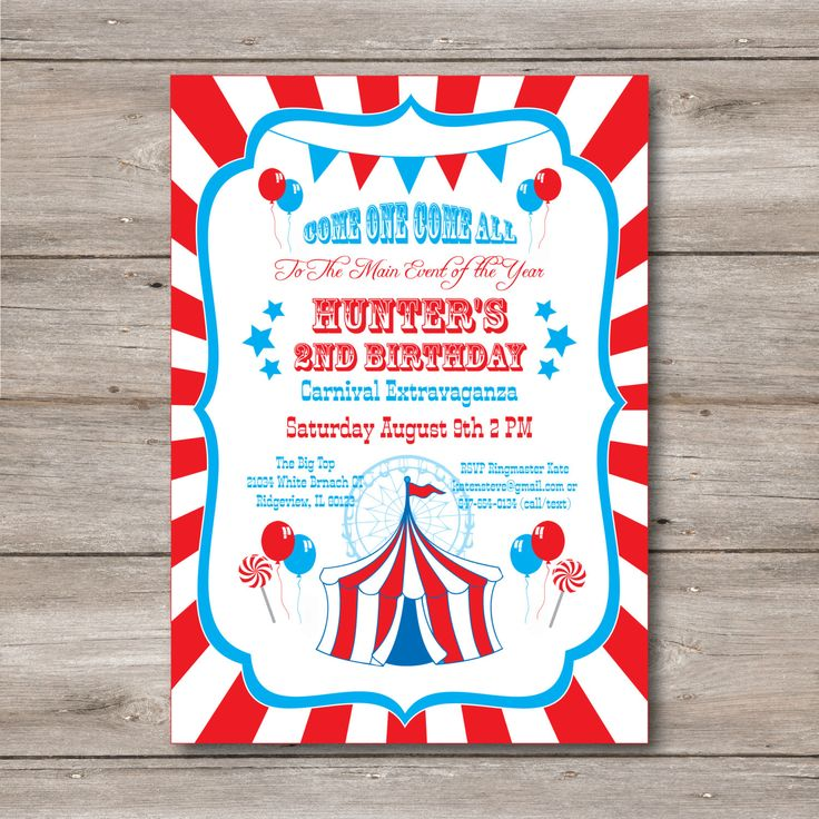 116 best carnival party images on Pinterest | Circus birthday ...