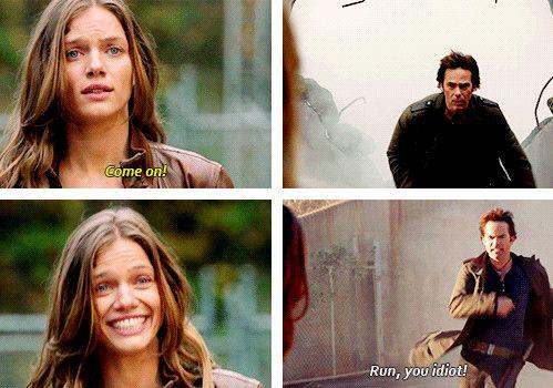 "Revolution. ""Run, you idiot!"" – Miles"