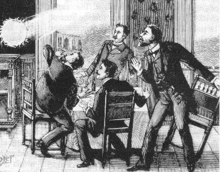 L'énigme de la foudre en boule enfin résolue ? (Gravure du XIXe siècle montrant le phénomène de la foudre en boule) on LeMonde.fr via @PasseurSciences