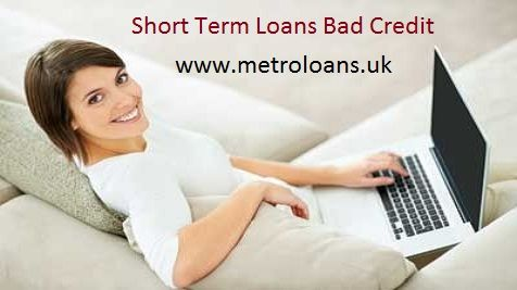 Metro Loans, an online credit lender in the UK, is offering short term loans for bad credit people. Borrowers do not need to have good credit score to seek assistance of these loans, which are provided on competitive APRs and easy repayment terms. For more details, click here:  http://www.metroloans.uk/short-term-loans.html