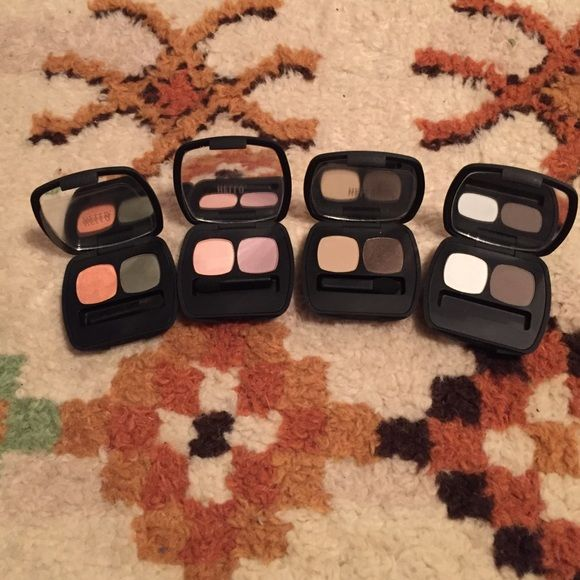 Lots of bare minerals eyeshadows Lot of bare minerals eyeshadow palettes. All new. Colors are the paradise found, the escape, the high society and the perfect storm. Bare minerals Makeup Eyeshadow