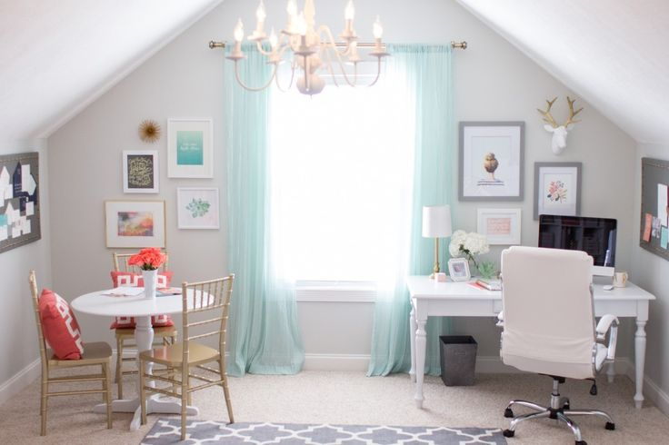 Stationery designer's home office studio tour. Lots of white and gold accents. GORGEOUS OFFICE TOUR WITH MEGAN WRIGHT DESIGN CO.